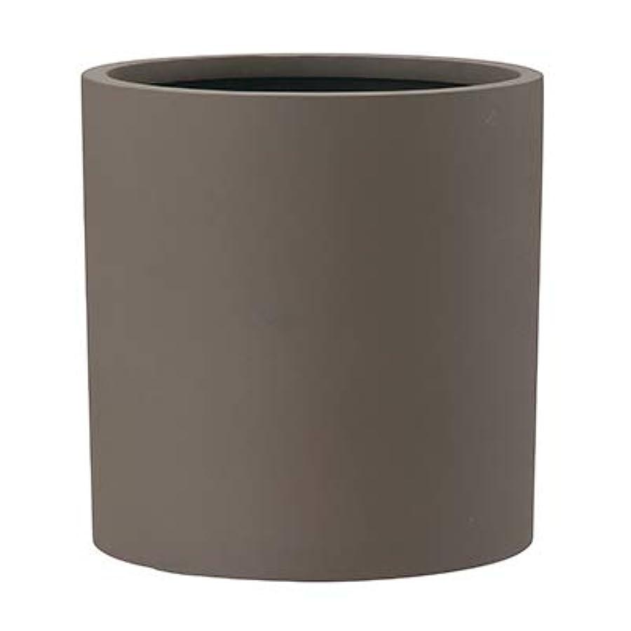 反射比類のないいいねポリッシュ シリンダー 43 cm/軽量/植木 鉢 プランター 【 ブラウン 】