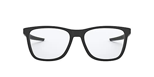 Oakley Men's OX8163 Centerboard Round Prescription Eyewear Frames, Satin Black/Demo Lens, 51 mm