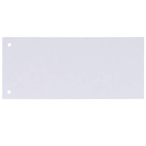 Oxford Trennstreifen aus recyceltem Manilakarton, vollfarbig, gelocht, 10,5 x 24 cm, 100 Stück, Weiss
