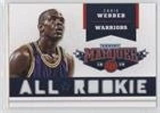 chris webber all rookie team card