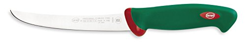 Sanelli Premana Professional Coltello Disosso Curvo, Acciaio Inossidabile, Verde/Rosso, 28.5x3.0x4.0 cm