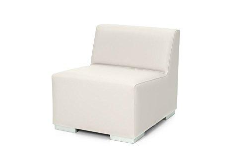 Sinergia Contract Sofa 1 Plaza Ibiza. Modular tapizado para Exterior en Polipiel náutica Blanco.