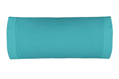 Burrito Blanco Atelier Funda de Almohada 180 Hilos de Algodón de 45x110cm/Funda de Almohada para Cama de Individual de 90,...