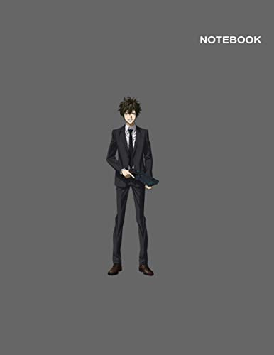 Psycho-Pass Anime Boy Notebook Cover: Large (8.5 x 11 inches), Classic Lined pages, 110 Pages.