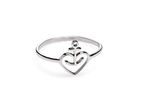 ASTRA Herzanker Damen-Ring, Finger-Schmuck, aus Edelstahl (16 mm)