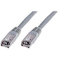 DIGITUS Patch-Kabel Cat-5e - 3m - SF-UTP Schirmung - CCA-Adern - PVC Mantel - Netzwerk-Kabel - Grau