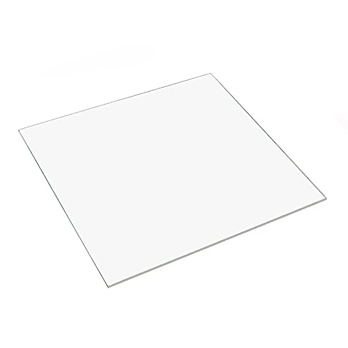 3D Printer Borosilicate Glass Build Plate for CTC/Creality/ANET/Prusa Glass Bed (240x240x3mm)