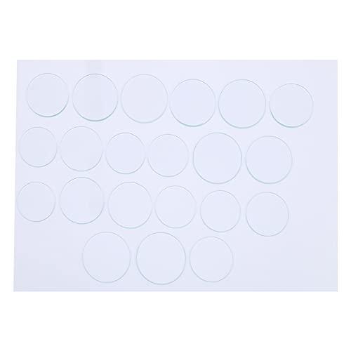Lente facial, 21 piezas 35-45 mm Lente de reloj altamente transparente sin arañazos para la industria para el campo profesional