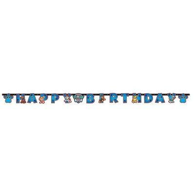 ILS I LOVE SHOPPING Pancarta feliz cumpleaños guirnalda articulada Happy Birthday Multicolor (Paw Patrol, Festone)