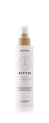 Kemon Actyva Volume e Corposità Bodifying Spray – Haarspray mit Styling-Effekt, Volumen-Spray ohne Silikon und Alkohol für feines Haar - 150 ml