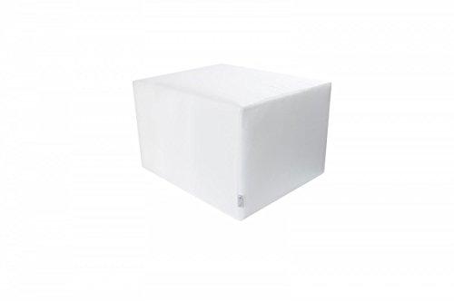 Manufaktur Schaumstoffe Wegerich Stufenlagerungswürfel mit Bezug Baumwolle weiß