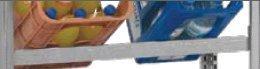 Zusatzfachebene für Getränkekistenregal verzinkt, 1000 mm
