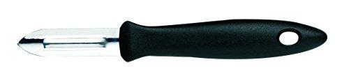 Fiskars Économe, Plastique/Acier inoxydable, Longueur des lames: 6 cm, Noir/Acier, Essential, 1023786