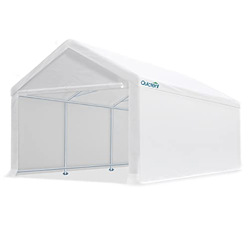 Quictent 13'X20' Carport Heavy Duty Car Canopy Galvanized Car Shelter with Reinforced Ground Bars