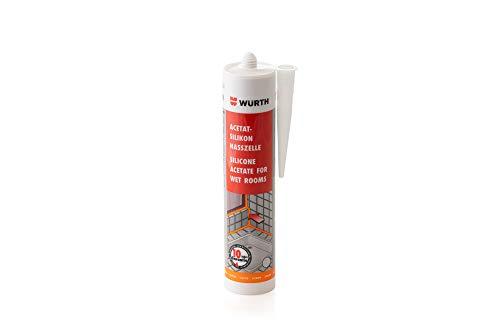 Würth Acetat - Silikon Nasszelle Silbergrau 310 ml Kartusche (Art.-Nr.:08925600)