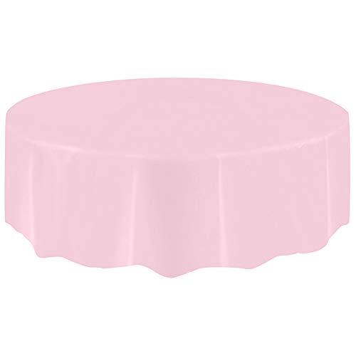 XdiseD9Xsmao Waterdicht groot plastic tafelkleed voor thuis, feest, bruiloft, rond, wegwerptafelkleed, voor kerstdecoratie Roze