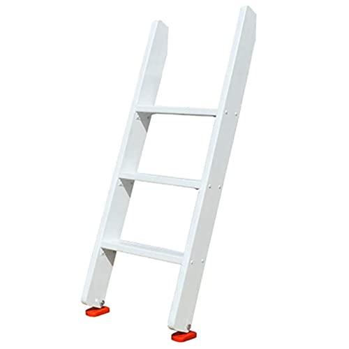 Escalera de mano Escalera de Litera de Madera Blanca para Dormitorio de Estudiantes, Escaleras de Cama de Piso Antideslizante de 3/4/5 Escalones con Pies de Goma, Soporta Hasta 150 Kg/330 Libras