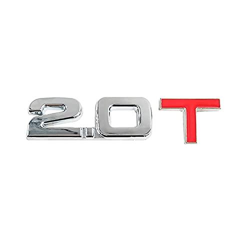 DAI QI por Etiqueta engomada del Logotipo del automóvil 1.3T 1.4T 1.5T 1.6T 1.8T 2.0T 2.2T 2.4T 2.5T 2.8T 3.0T Logotipo de Logo Aplique para BMW Benz Ford Audi Toyota Honda Compatible con