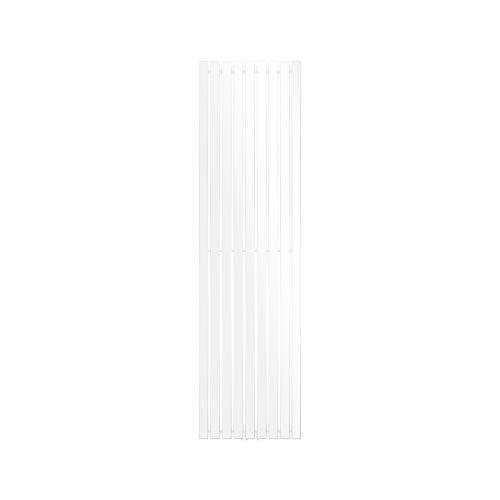 ECD Germany Radiador toallero para baño - 480 x 1800 mm - Blanco - Plano - Diseño vertical - Toallero de agua - Radiador de diseño - Calentador de baño - Calefaccion de pared - No eléctrico