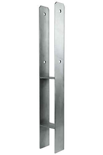 H-Pfostenträger aus Edelstahl von Namor | H-Anker 600mm | Pfostenanker V2A Pfosten Halter Pfostenschuh | rostfrei made in Germany (71 mm x 600 mm (Lichte Breite x Länge))