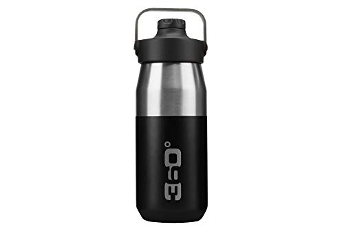 360 Degrees Wide Mouth Insulated with Sipper Cap Isotherme, 360SSWINSIP550BLK, noir, 550 ml