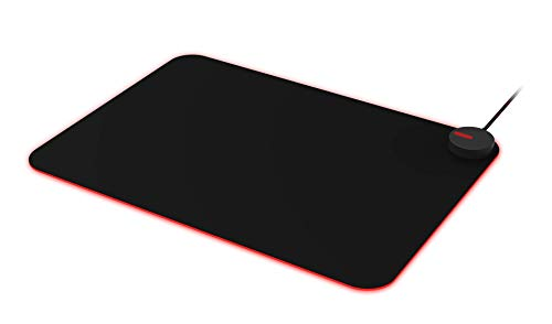 Agon Tournament-Grade RGB Gaming Mouse Mat, Mouse Pad, Light FX 16.8M Customizable Colors & Patterns, Light FX Sync, Micro-Texture Cloth Surface, Anti-Slip Rubber, 14x10 inches (AMM700)