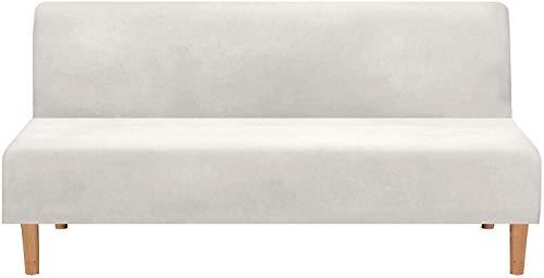 FSYGZJ Real Velvet Plush 1 Pieza Futon Funda para sofá Cama Funda elástica para sofá Funda sin Brazos Funda para sofá Protector de Muebles con Forma de Base elástica Resistente al Deslizamiento Lav