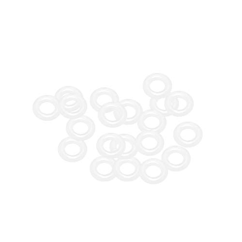 uxcell Silicone O-Rings, 6mm OD 3mm ID 1.5mm Width VMQ Seal Gasket for Compressor Valves Pipe Repair, White, Pack of 20