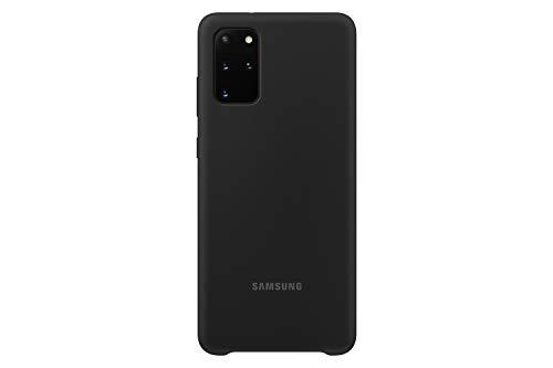 Samsung Silicone Smartphone Cover EF-PG985 für Galaxy S20+ | S20+ 5G Handy-Hülle, Silikon, Schutz Hülle, stoßfest, dünn & griffig, schwarz - 6.7 Zoll