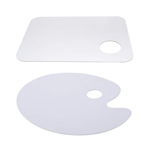 menolana 2X Clear Acrylic Colors Mixing Palette Trays 30x40cm for Oil Painting Acrylic