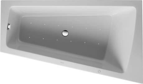 Duravit Whirlpool Paiova 1700x1000mm eine Rückenschräge rechts, angeformte Acrylverkleidung Front, Gestell, Ab- und Überlaufgarnitur, Air-System