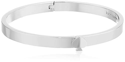 Kate Spade New York Heritage Spade Thin Metal Spade Button Bangle Silver One Size