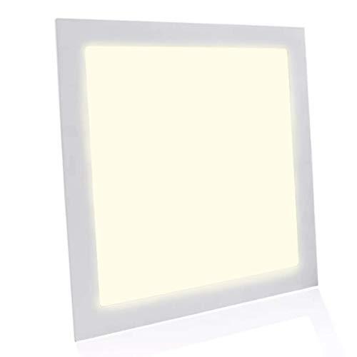 Painel Plafon Luminária Led 25w Quadrado Embutir - Branco Quente Decoração Iluminação