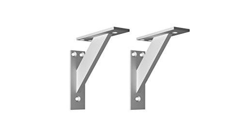 Regalträger Wand Regal Halterungen Metall Aluminium Deko Regal Halterung 3-teilige Winkel Unterstützung Wandkonsole Schwerlastträger Regalstützen Schwerlastwinkel 2 Stück System Für Regale