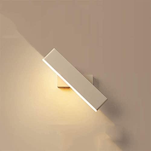 Lámpara de pared de moda Lámpara de pared de hierro forjado simple y moderno Lámpara de noche Lámpara de cama creativa de lámpara de acrílico de acrílico de la lámpara de pared de diseño rectangular L