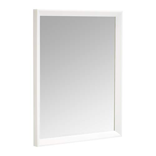 Amazon Basics Espejo para pared rectangular, 40,6 x 50,8 cm - marco biselado, blanco