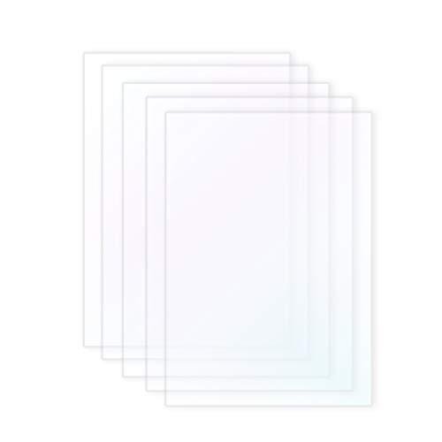 Wisamic 5 PCS SLA/LCD FEP Film - Compatible con la impresora 3D Photon Impresoras 3D de 0.1mm Filamentos, 140 * 200mm para Anycubic Photon, Ez3dx, X-5, X-6, etc.