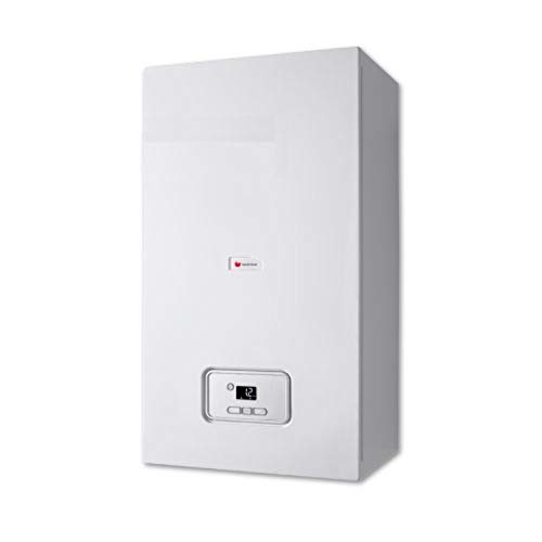 Caldera a gas de condensación Thelia Condens de una potencia térmica de 25 kW con intercambiador de aluminio con aleación de silicio, autodiagnóstico, 74 x 41 x 30 centímetros (referencia: 120