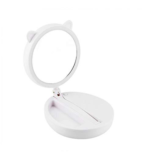 WBFN 1 Pcs Belle pliant USB Maquillage LED lumineux Loupe ronde double face Miroir cosmétique (Color : A)