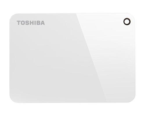 Toshiba HDTC910EW3AA Canvio Advance Portable Externe Festplatte USB 3.0, 1TB Weiß