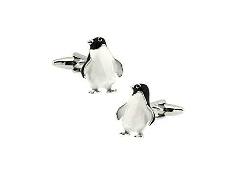 2 PCS Manschettenknopf Hemd Pinguin Manschettenknöpfe Hemd Herren Schwarz Manschettenknöpfe Cufflinks