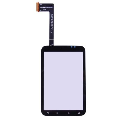 Vidrio Exterior de Pantalla Frontal Panel táctil for HTC Wildfire S (G13) (Negro) taizhan Fácil instalación (Color : Black)