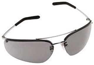 3M Metaliks Safety Glasses With Polished Metal Silver Frame And Gray polycarbonate Anti-Fog Lens
