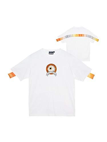 MISHKA Tシャツ ミシカ 半袖Tシャツ THE RMOGRAPHY K.W TEE ミシカ トップス ストリート (L, WHITE)