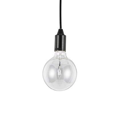 Ideal Lux, Edison SP1 113319 - Lampada a sospensione, nera