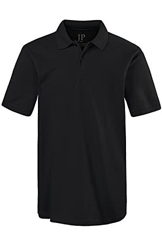 JP 1880 Herren große Größen bis 8XL, Poloshirt, Oberteil, Knopfleiste, Hemdkragen, Pique, schwarz 6XL 702560 10-6XL