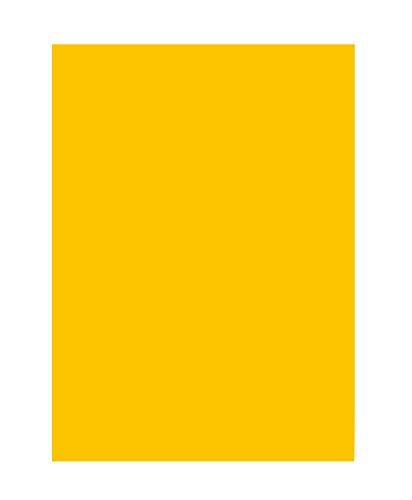 folia 6315 - Tonpapier goldgelb, DIN A3, 130 g/qm, 50 Blatt - zum Basteln und kreativen Gestalten von Karten, Fensterbildern und für Scrapbooking