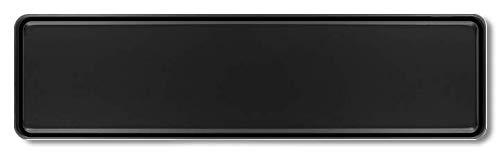 Premium 1 Stück Fun Kennzeichen 52cm x 11cm Wunschtext Individuell Wunschkennzeichen Wunschprägung bis zu 19 Zeichen Namens Kennzeichen Namensschild Geburtstag VIELE Farben (schwarz)