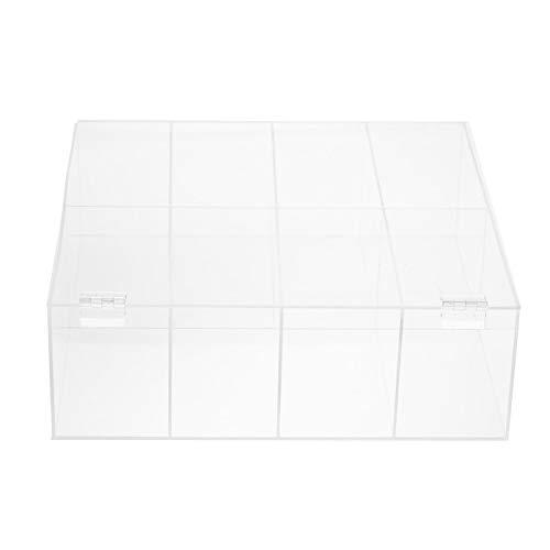 Leaf Tea Box Organizador de almacenamiento, 8 compartimentos, colección de té, uso para armarios de cocina, encimeras, despensa, para bolsas de bebidas