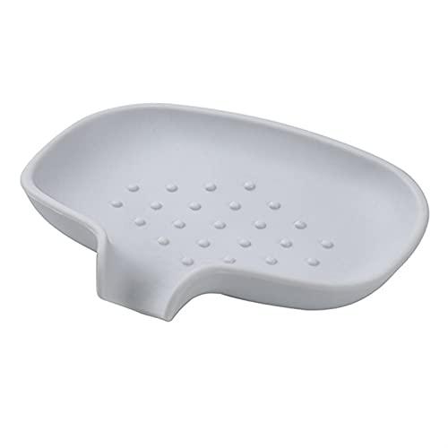 NZNZ Baño Antideslizante Rack de Almacenamiento Sozo de Silicona Caja de jabón de Cocina Soporte de Esponja de Ducha sobre Plato de jabón (Color : 02)